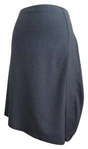 Pier Antonio Gaspari Wool Wool Blend Asymmetrical Fine Wool Skirt gray