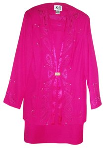 K&B Diamond Studded Fuschia Suit