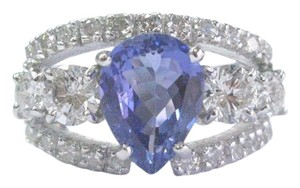 Other Fine Gem Tanzanite Diamond WIDE White Gold Jewelry Ring 14KT 4.86Ct