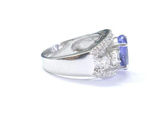 Other Fine Gem Tanzanite Diamond WIDE White Gold Jewelry Ring 14KT 4.86Ct Image 2