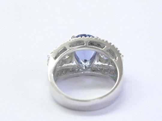 Other Fine Gem Tanzanite Diamond WIDE White Gold Jewelry Ring 14KT 4.86Ct Image 5