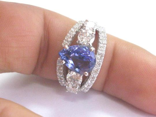 Other Fine Gem Tanzanite Diamond WIDE White Gold Jewelry Ring 14KT 4.86Ct Image 6