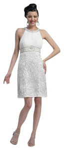 Sue Wong Sleeveless Sheath Embroidered Dress