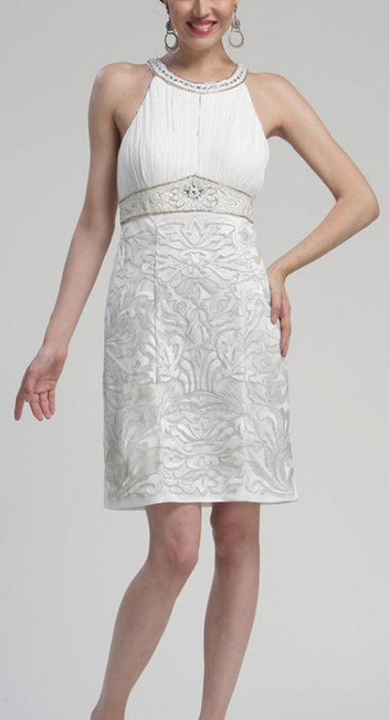 Sue Wong Sleeveless Sheath Embroidered Dress Image 3