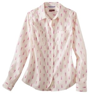Merona Button Down Shirt Pink And White