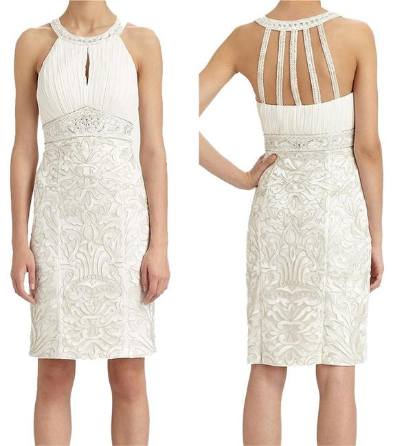 Sue Wong Sleeveless Sheath Embroidered Dress Image 2