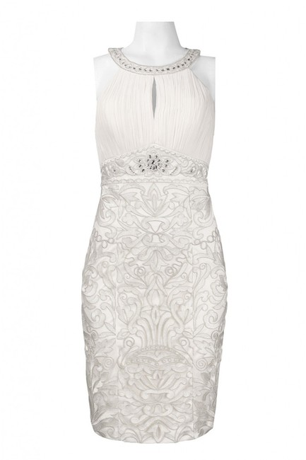 Sue Wong Sleeveless Sheath Embroidered Dress Image 4