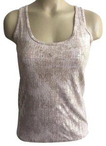 Ann Taylor Sequin Top Ivory