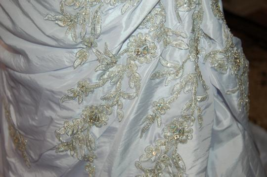 Andy Anand Couture Icy White Satin A7007 Wedding Dress Size 12 (L) Image 8