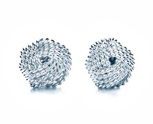 Tiffany & Co. TIFFANY & Co Sterling Silver TWIST Knot Earrings