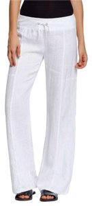 Eileen Fisher Comfy Stretch Waist Wide Leg Pants White