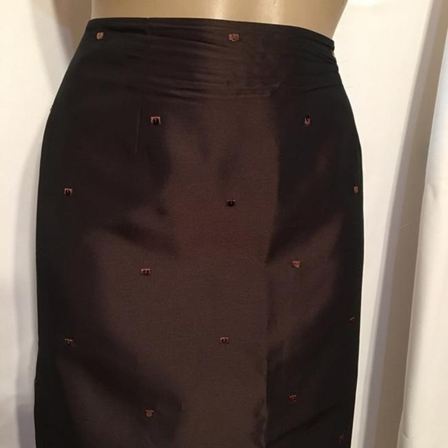 Ann Taylor Sequin Embroidered Skirt Brown Image 1