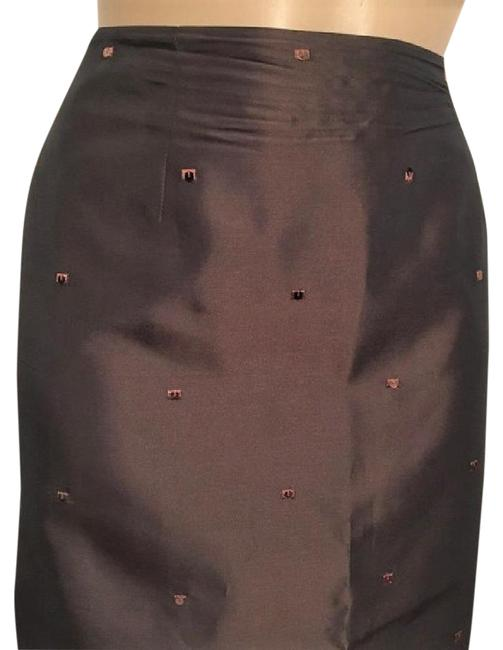 Ann Taylor Sequin Embroidered Skirt Brown Image 2