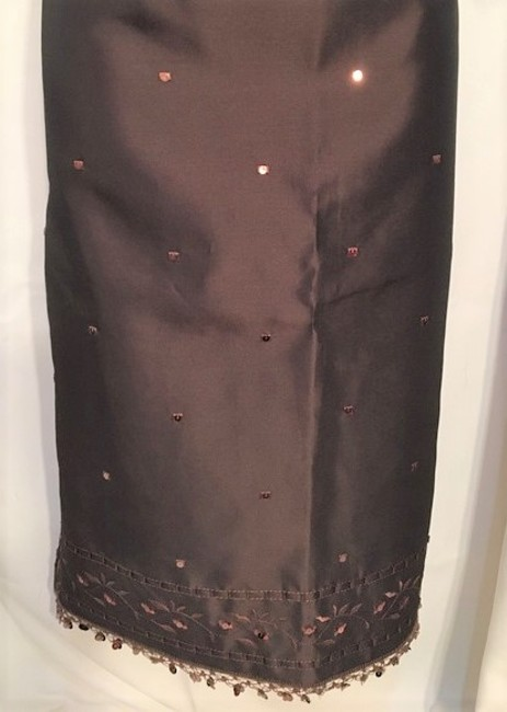 Ann Taylor Sequin Embroidered Skirt Brown Image 3