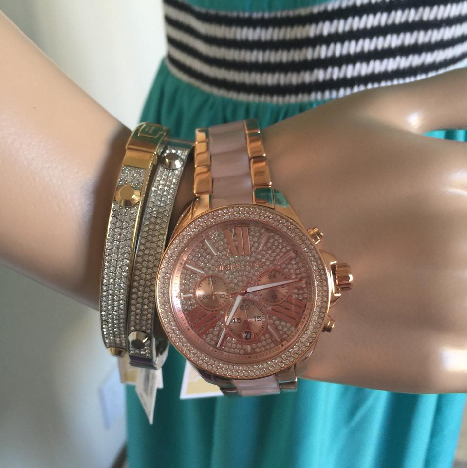 26f153ffe466 Michael Kors Rose Gold  Blush Gold-tone Wren Mk6096 Watch - Tradesy