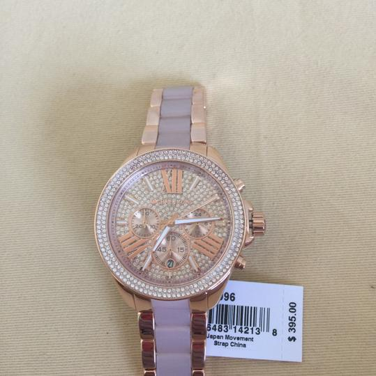 Michael Kors $400 NWT Rose Gold-Tone Wren Watch MK6096 Image 4