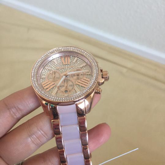Michael Kors $400 NWT Rose Gold-Tone Wren Watch MK6096 Image 5