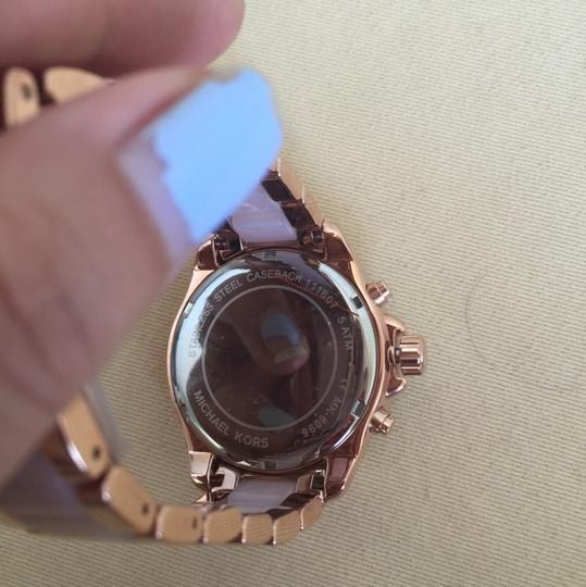 Michael Kors $400 NWT Rose Gold-Tone Wren Watch MK6096 Image 7