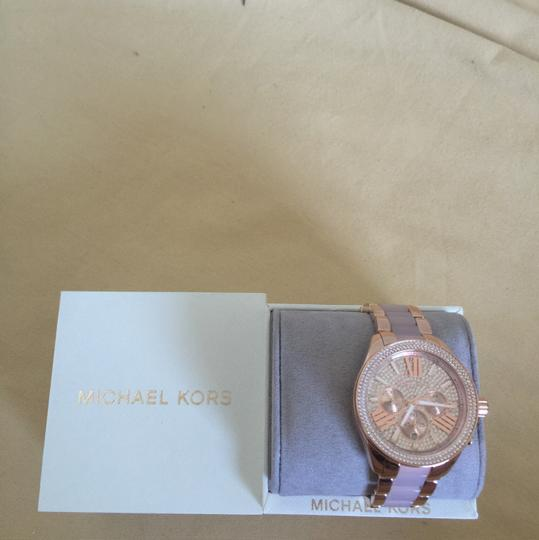 Michael Kors $400 NWT Rose Gold-Tone Wren Watch MK6096 Image 9