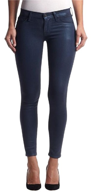 Item - Blue Coated Ankle Krista Super (Metallic Midnight) Skinny Jeans Size 28 (4, S)