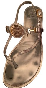 Tory Burch Flat Silver Sandals