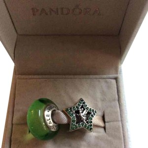 PANDORA Tinker Bell Disney Pandora Set of 2 Charms