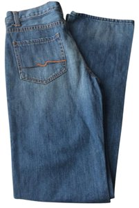 7 For All Mankind Seven Kimmie Straight Leg Jeans-Light Wash