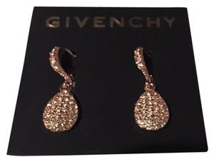 Givenchy Swarovski element crystals in rose gold tear drop earring