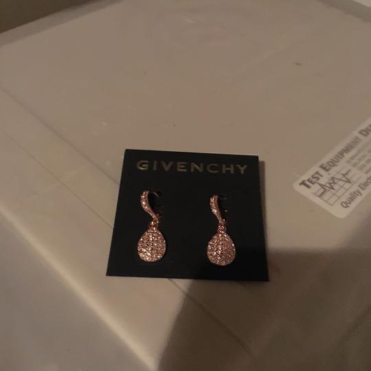 Givenchy Swarovski element crystals in rose gold tear drop earring Image 1