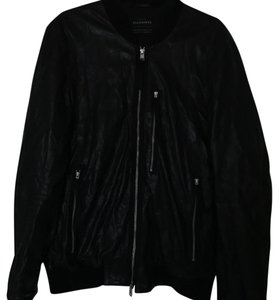 AllSaints black Leather Jacket