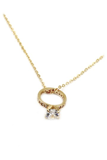 Ocean Fashion Elegant crystal ring clavicle gold necklace Image 1