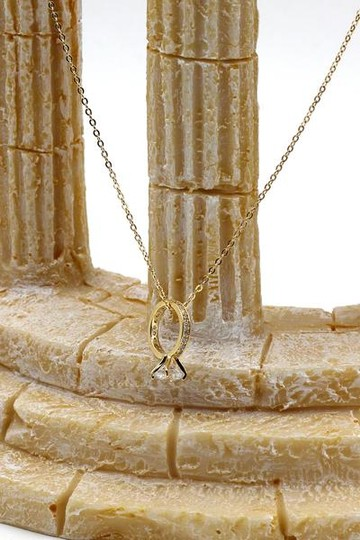 Ocean Fashion Elegant crystal ring clavicle gold necklace Image 2