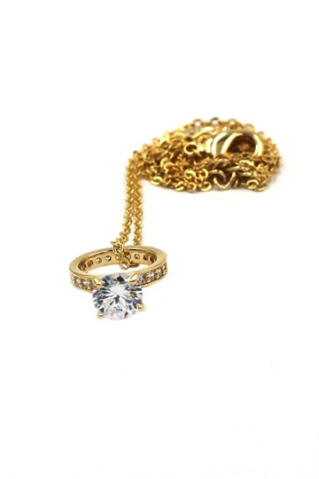 Ocean Fashion Elegant crystal ring clavicle gold necklace Image 3