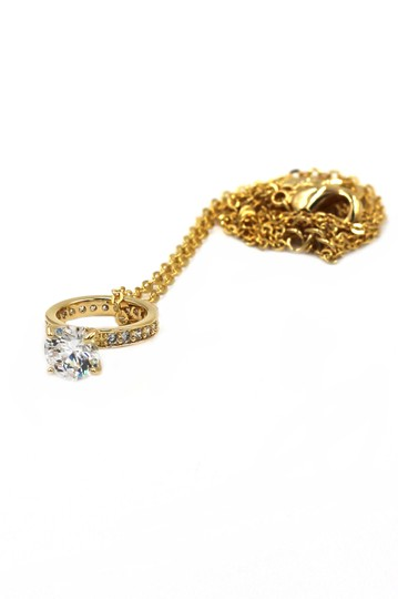 Ocean Fashion Elegant crystal ring clavicle gold necklace Image 4