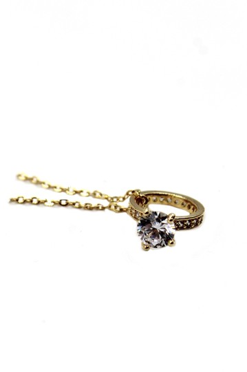 Ocean Fashion Elegant crystal ring clavicle gold necklace Image 7