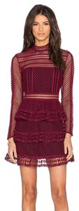 self-portrait Lace Paneled Panel Tiered Dress
