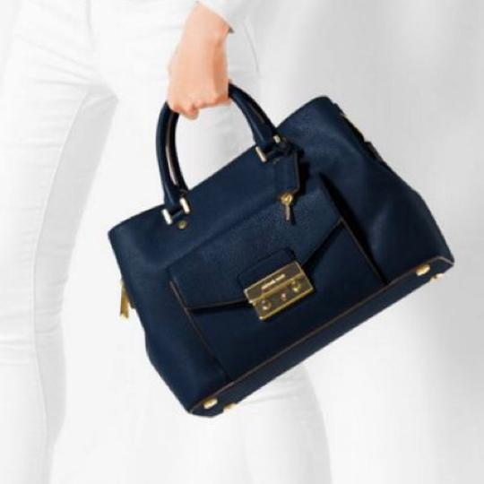Michael Kors Satchel in Navy Image 1