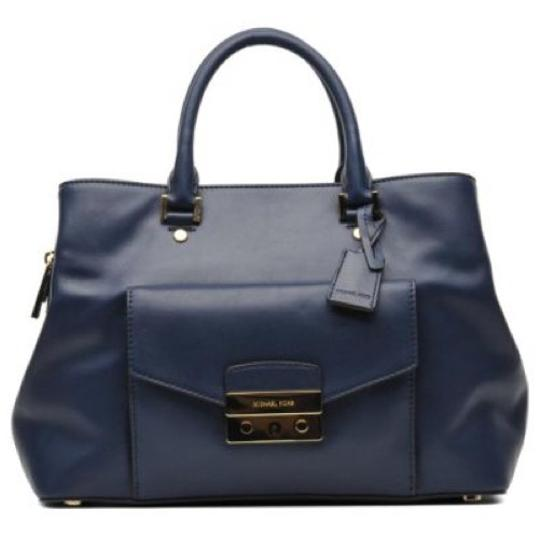 Michael Kors Satchel in Navy Image 3