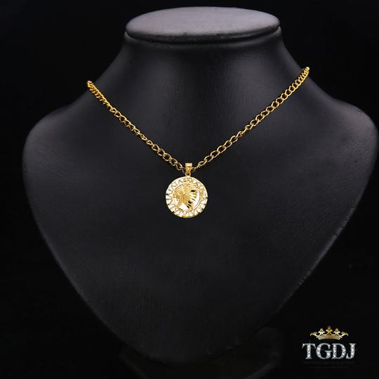 Top Gold & Diamond Jewelry 14K Yellow Gold Indian Pendant, Top Gold & Diamond Jewelry Image 2