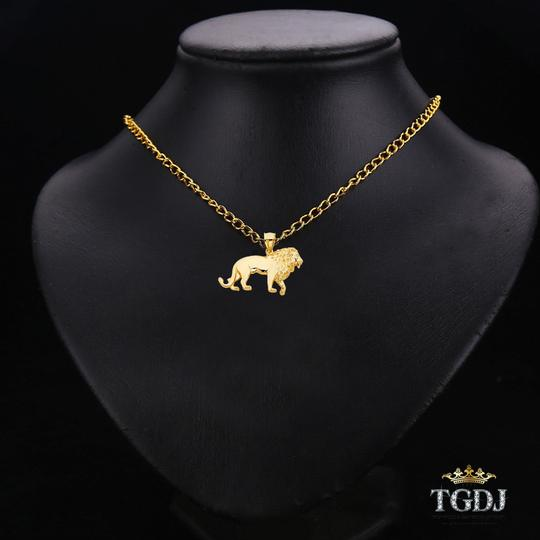 Top Gold & Diamond Jewelry 14K Yellow Gold Lion Pendant, Top Gold & Diamond Jewelry Image 1