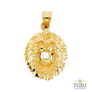 Top Gold & Diamond Jewelry 14K Yellow Gold Lion Pendant, Top Gold & Diamond Jewelry
