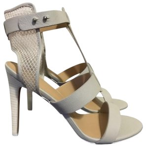 JOE'S Jeans Caged Ankle Heels Ecru Strappy white Sandals