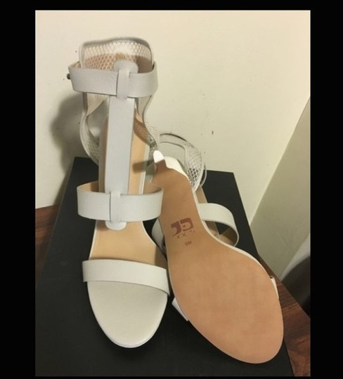 JOE'S Jeans Caged Ankle Heels Ecru Strappy white Sandals Image 1
