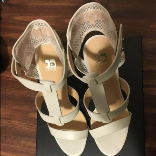 JOE'S Jeans Caged Ankle Heels Ecru Strappy white Sandals Image 2