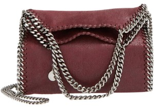 Stella McCartney Shaggy Deer New Faux Leather Chain Tote in Plum