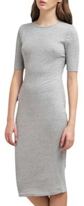 Glamorous short dress Grey Short Sleeves Sheath Ribbed Crew Neck on Tradesy