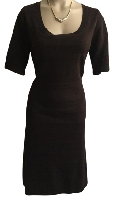 Preload https://img-static.tradesy.com/item/21003765/calvin-klein-brown-knit-striped-mid-length-workoffice-dress-size-6-s-0-5-650-650.jpg