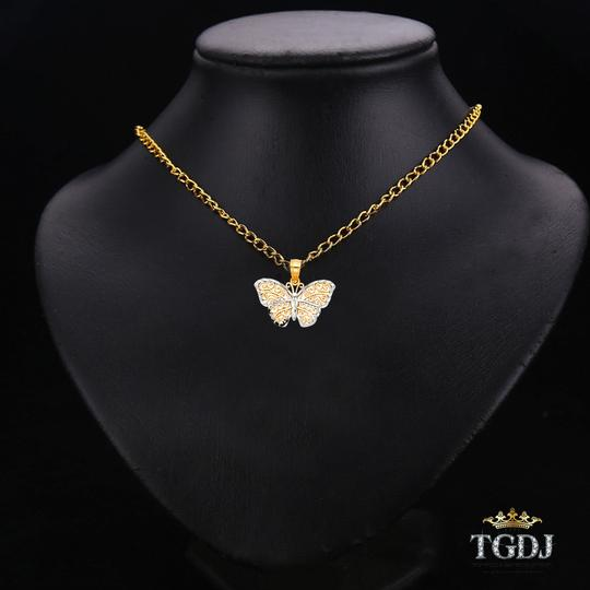 Top Gold & Diamond Jewelry 14K Two Tone Butterfly Pendant, Top Gold & Diamond Jewelry Image 2