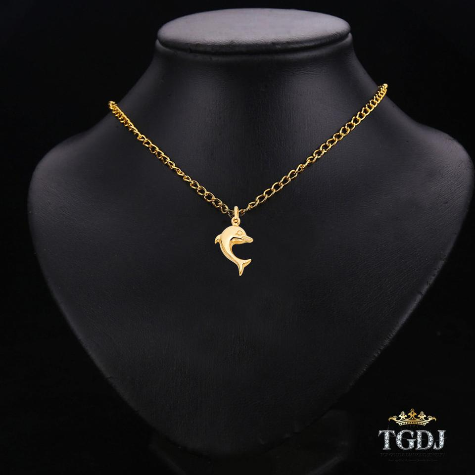 plated jewelry wholesale double sterling pendant gold charms rose product accessory dolphin necklace silver set