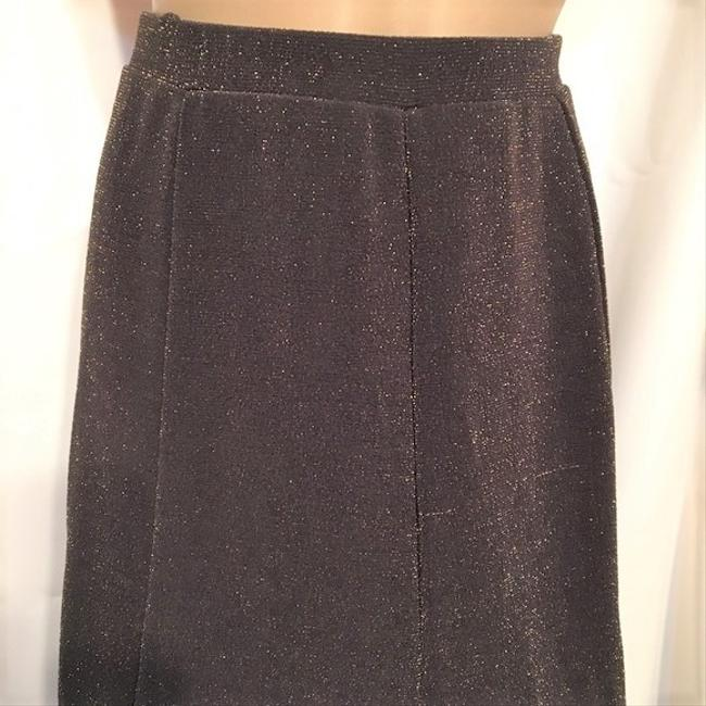 Chico's Skirt Brown & Gold Image 3